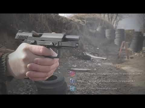 "Пистолет FLARM GP T910 в ""Slow Motion""."